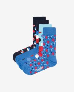 Happy Socks Navy Ponožky 4 páry Modrá