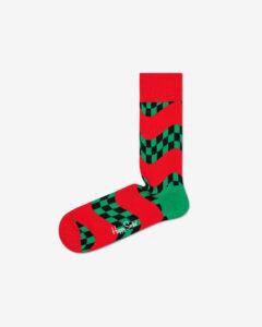 Happy Socks Race Ponožky Zelená Červená