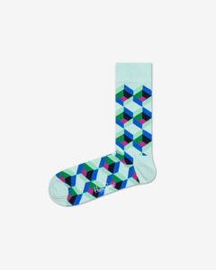 Happy Socks Optiq Square Ponožky Zelená