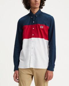 Levi's Košeľa Modrá Červená Biela