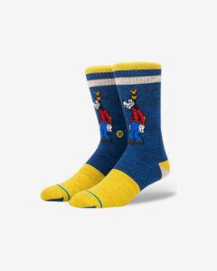 Stance Vintage Goofy Ponožky Modrá Žltá