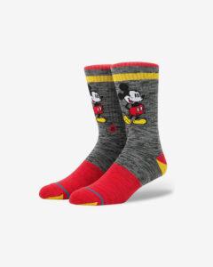 Stance Vintage Disney Mickey Ponožky Červená Šedá