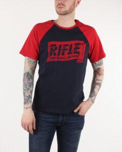 Rifle Tričko Modrá Červená