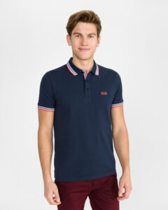 BOSS Paddy Polo tričko Modrá