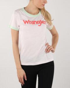 Wrangler Retro Kabel Tričko Biela