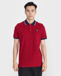 Jack & Jones Aop Polo tričko Červená