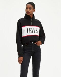 Levi's Logo Mikina Čierna