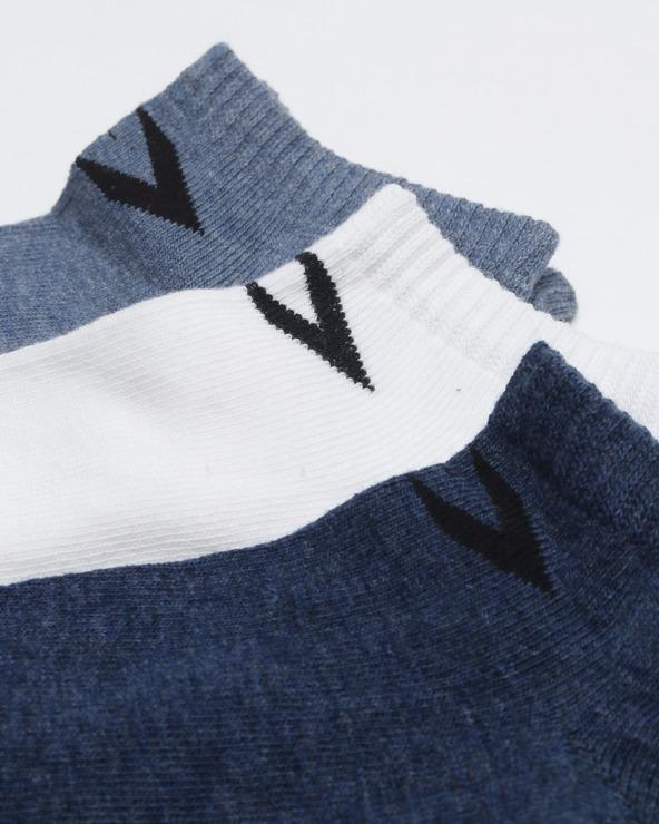 Converse Ponožky 3 páry Modrá Biela