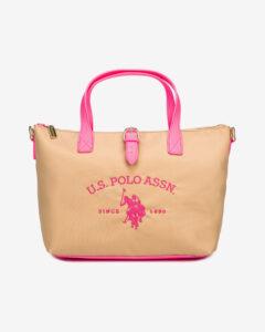 U.S. Polo Assn Patterson Fluo Kabelka Ružová Béžová