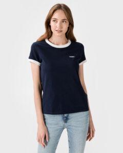 Tommy Jeans Logo Ringer Tričko Modrá