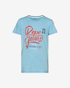 Pepe Jeans Abadie Tričko detské Modrá