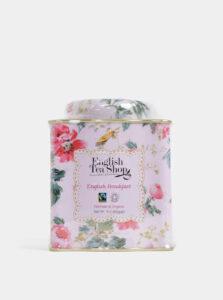 Sypaný čierny čaj v plechovke v rúžovej farbe English Tea Shop