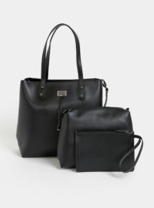 Čierna kabelka s dvoma odnímateľnými púzdrami 3v1 Bessie London