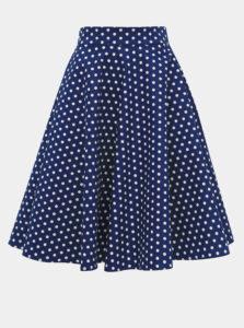 Modrá bodkovaná sukňa Dolly & Dotty Shirley