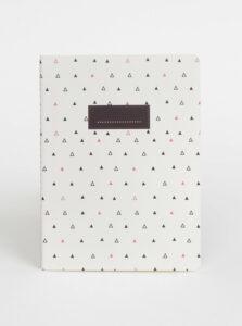 Biely vzorovaný zápisník Tranquillo Triangle