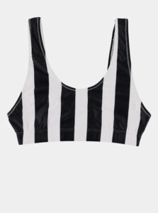 Bielo-čierny dámsky pruhovaný horný diel plaviek Haily´s Caro