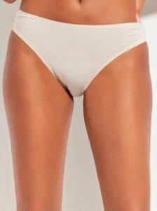 Béžové nohavičky s krajkovým lemom M&Co