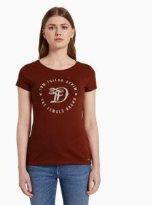 Vínové dámske tričko Tom Tailor Denim