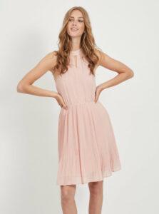 Ružové plisované šaty VILA