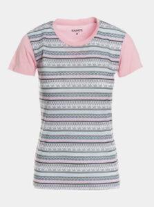 Šedo-ružové dámske vzorované tričko SAM 73