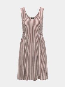 Hnedé pruhované šaty VERO MODA Polly