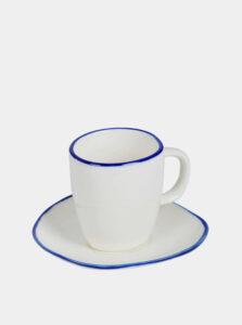 Biely hrnček na espresso s podšálkou Tranquillo Elsa 50 ml