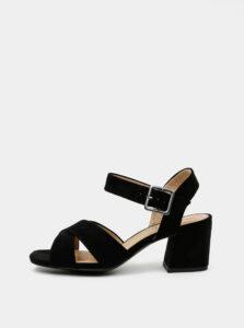 Čierne dámske sandále v semišovej úprave s.Oliver