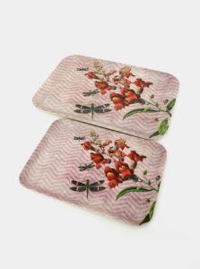 Sada dvoch ružových tácok Tranquillo Dragonfly