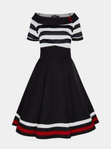 Čierne pruhované šaty Dolly & Dotty