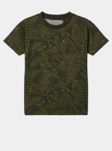 Kaki chlapčenské vzorované tričko name it Jerlu