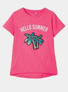 Ružové dievčenské tričko name it Josey