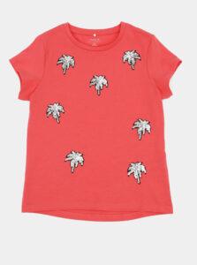 Ružové dievčenské tričko name it Jamia