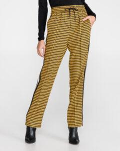 TWINSET Nohavice Čierna Žltá