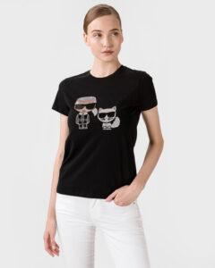 Karl Lagerfeld Ikonik Tričko Čierna