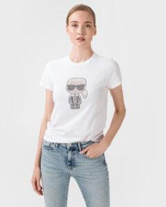 Karl Lagerfeld Ikonik Tričko Biela