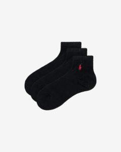 Polo Ralph Lauren Ponožky 3 páry Čierna