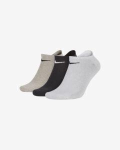 Nike Ponožky 3 páry Čierna Biela Šedá