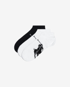 Polo Ralph Lauren Ponožky 3 páry Čierna Biela