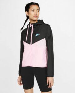Nike Windrunner Bunda Čierna Ružová