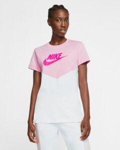 Nike Heritage Tričko Ružová Biela