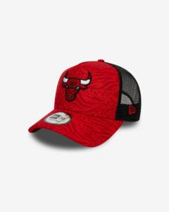 New Era Chicago Bulls All Over Print Šiltovka Červená