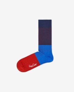 Happy Socks Block Rib Ponožky Modrá Červená
