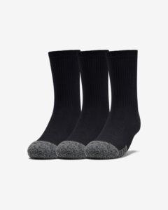 Under Armour Ponožky 3 páry detské Čierna Viacfarebná