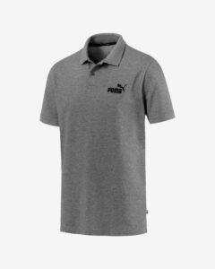 Puma Essentials Pique Polo tričko Šedá