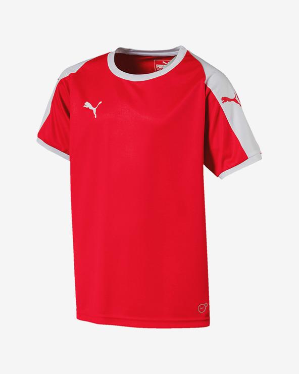 Puma Liga Tričko detské Červená Viacfarebná