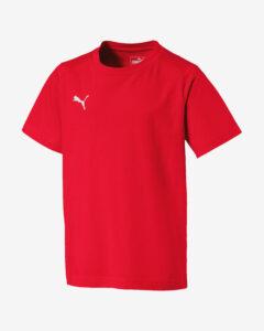 Puma Liga Casuals Tričko detské Červená Viacfarebná