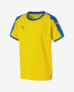Puma Liga Tričko detské Žltá Viacfarebná