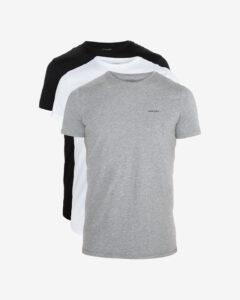 Diesel Spodné tričko 3 ks Čierna Biela Šedá
