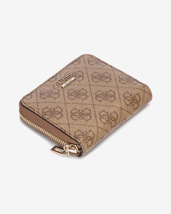 Guess Cathleen Small Peňaženka Hnedá Béžová