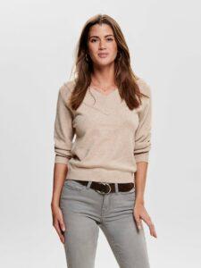 Béžový sveter Jacqueline de Yong Shanon